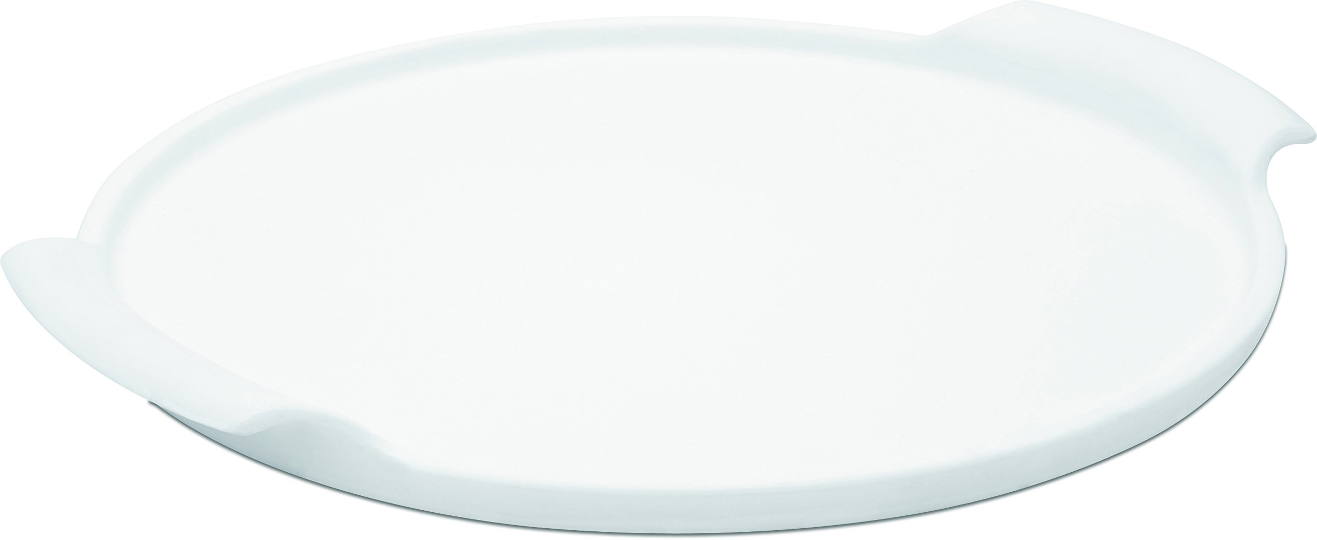 Oxford 7891361719679 Porcelain Pizza Stone with Handle, White