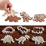 Aokyoung クッキー型 恐竜 抜き型 押し型 かわいい 動物 DIY 型抜き お菓子作り 子供 親子 クッキー作り 3点セット