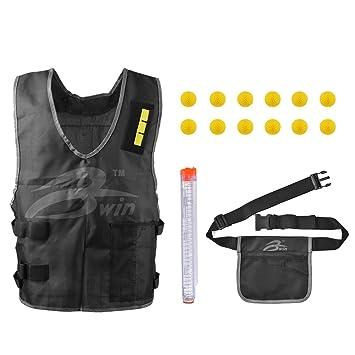 XCSOURCE® 12-Ronda Recambio Revista Pack Vest Bolsa para Nerf Rival Apolo Zeus Blaster Pistolas Juegos de Batalla de la Competencia TH635