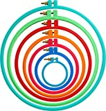 4 plastic embroidery hoop - Kocean 7 Pcs Plastic Cross Stitch Hoops- Embroidery Circle Set - Ring 3