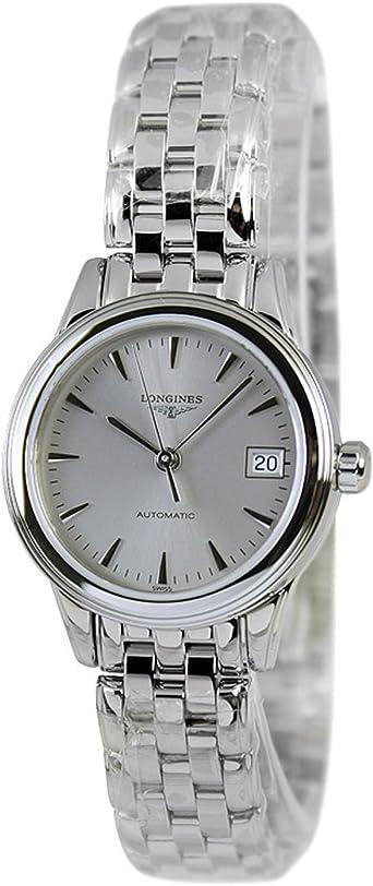 Longines l42744726 insignia – Reloj – plateado movimiento automático con caja de acero inoxidable caso: Amazon.es: Relojes