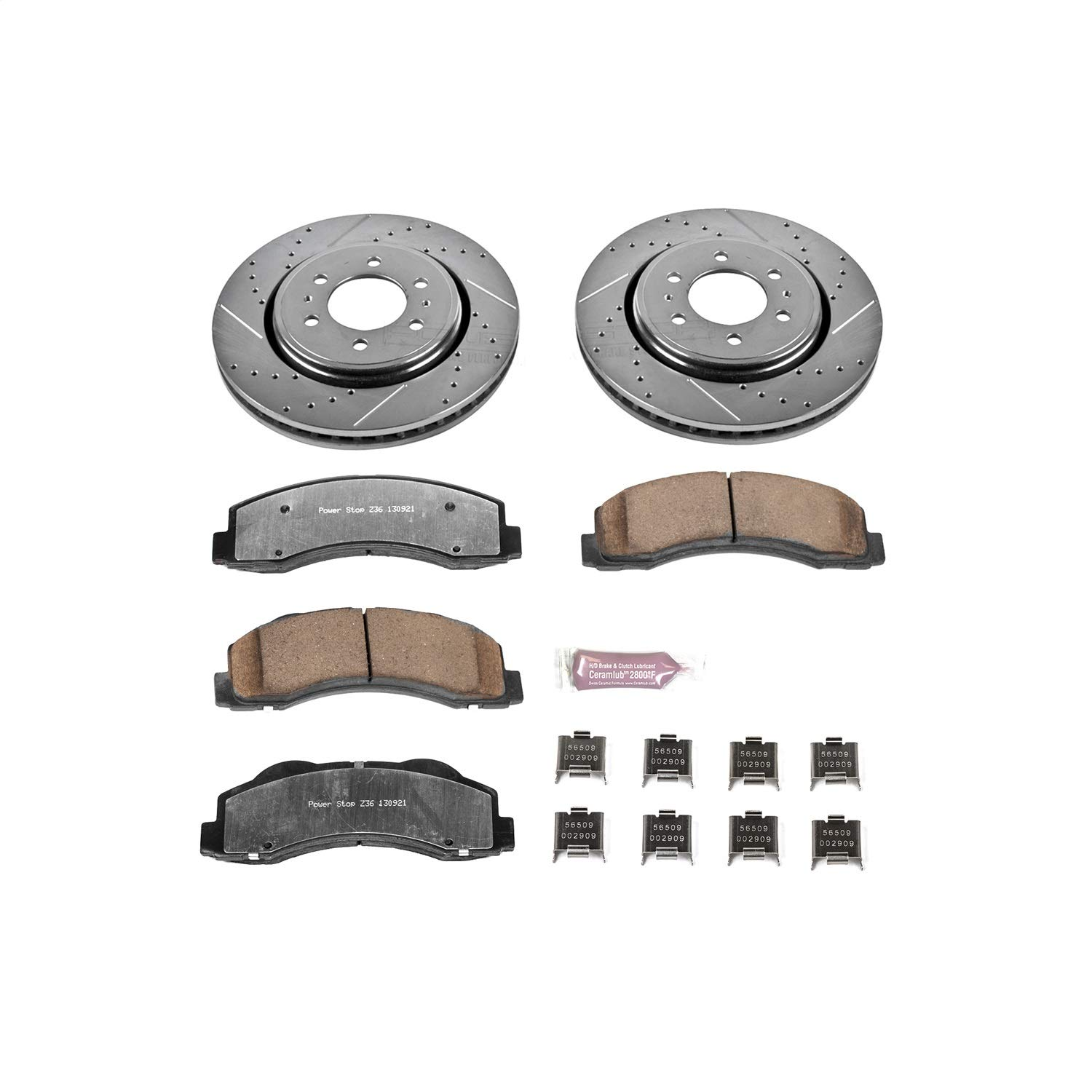 Power Stop K3167-36 Z36 Truck & Tow Front Brake Kit by POWERSTOP