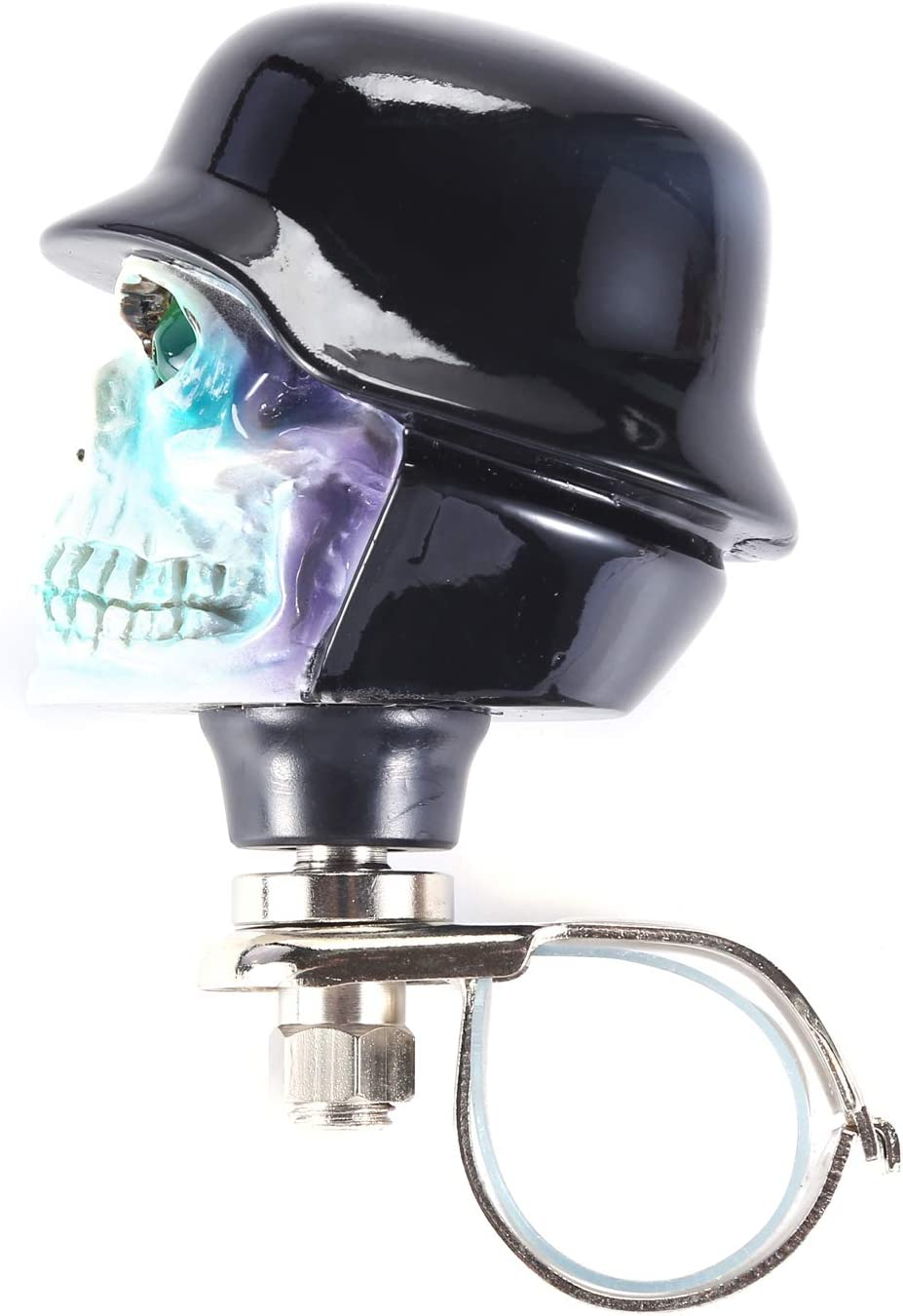 Black Bashineng Car Auto Steering Knobs Soldier Skull Power Handle Suicide Control Spinner for Vehicle Wheel