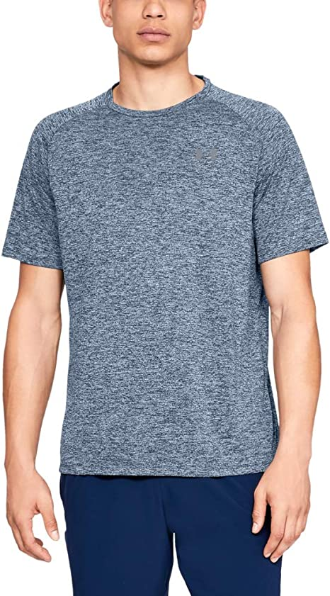 Under Armour Mens Tech 2.0 Short Sleeve, Academy (409)/Steel, XXX ...