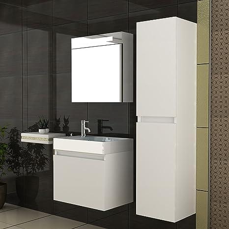 bad1a Lavabo/lavandino/mobili da bagno//laccato bianco/modello ...