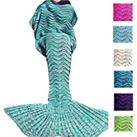 Fu Store Handmade Fleece Mermaid Tail Blanket For Adults,...