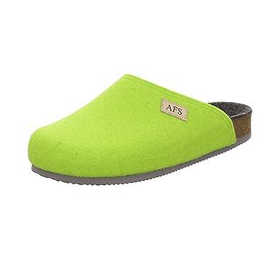AFS-Schuhe 26910 Filz Hausschuhe Damen, Bequeme, Warme Winter Pantoffeln Größe 39 Grün (Grün)