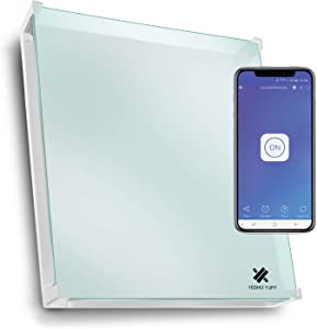 EconoHome Wall Mount Smart Space Heater Panel with Glass Heat Guard Cover - Pairs with eWeLink App - 400W Convection Heater - For 120 Sq Ft Room - 120V - Save Up to 50% of Electric Heating Cost