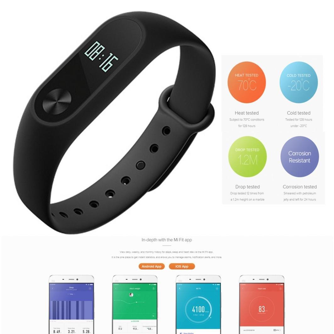 Wotryit Xiaomi Mi Band 2 Smart Bracelet Heart Rate Monitor Xiaomi Miband 2