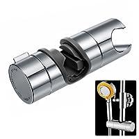 Joyoldelf Universal Handbrause Halterung, verstellbar Duschhalterung, 360° drehbar Brausehalter für Slide Bar 18-25 mm Außen Durchmesser, ABS Grade Kunststoff, Verchromt (Grau)