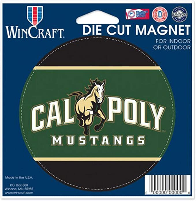 Cal Poly Mustangs Outdoor Magnet 4 inches Round