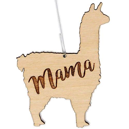 Hand-painted Wood Laser Cut Llama Ornaments