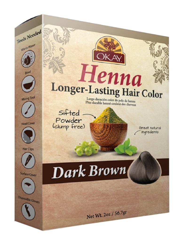 OKAY Longer Lasting Henna Color, Dark Brown, 2 Ounce Xtreme Beauty International