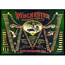 Rockin' W Brand Winchester W1103 Edge Bound Indoor/Outdoor Area Rug or Door Mat with Vintage Art Double-W Cartridge Board