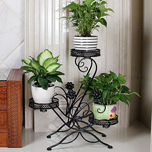 Save 10 aishn 3 tiered scroll classic plant stand decorative metal garden patio standing - Flower pot stands metal ...