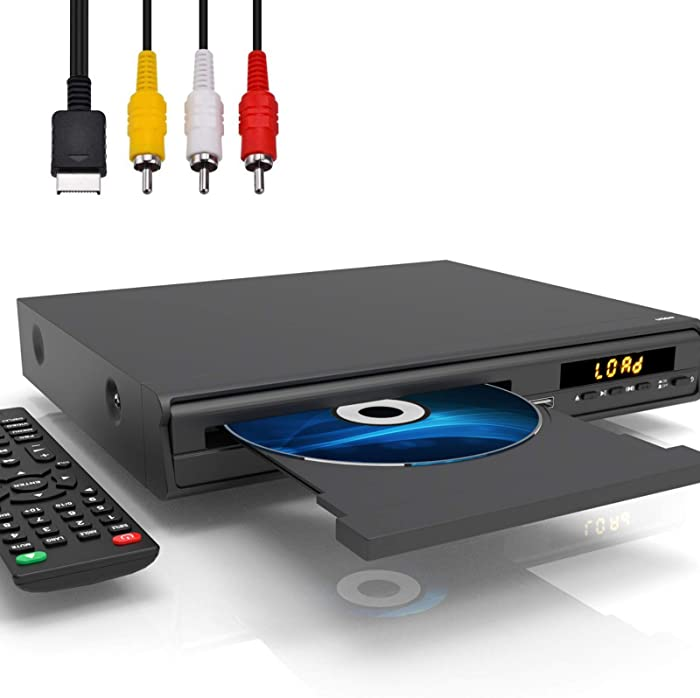 DVD Player for TV, All Region Free CD/DVD Player with HDMI/AV Output,Supports Mic Input/Karaoke, USB Input, Contains HDMI/AV Cables, Full Function Remote Control for DVD Players,PAL/NTSC System