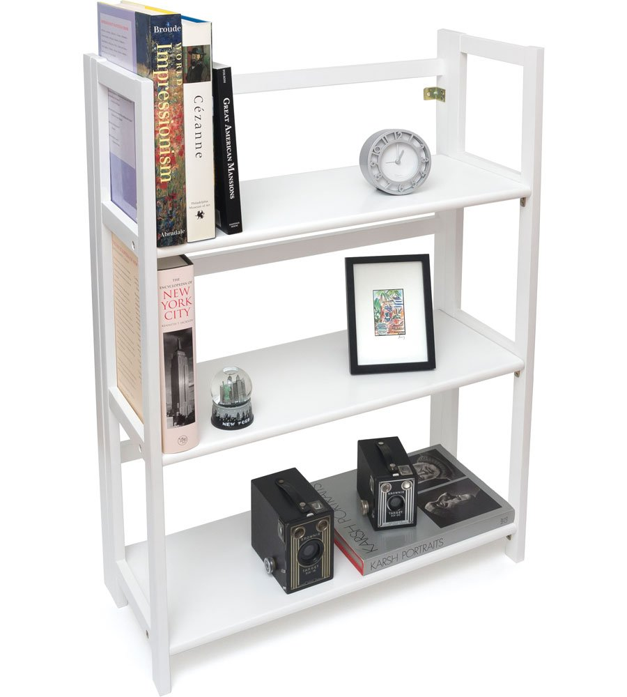 K&A Company Childrens Bookcase, 27.25'' x 38'' x 11.5'' x 19 lbs, White