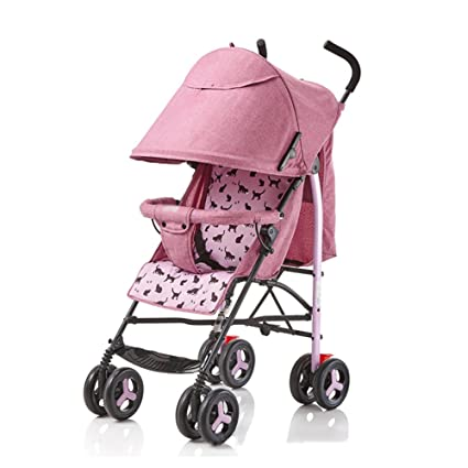 ERRU- Cochecito de bebé puede sentarse Sillas de paseo Reclinable Ligero Mini plegable Sistemas de viaje ...