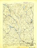 Blackstone MA topo map, 1:62500 scale, 15 X 15 Minute, Historical, 1889, 20.1 x 15.8 IN - Paper