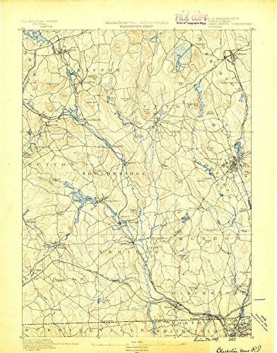 Blackstone MA topo map, 1:62500 scale, 15 X 15 Minute, Historical, 1889, 20.1 x 15.8 IN - - West The Legends Village