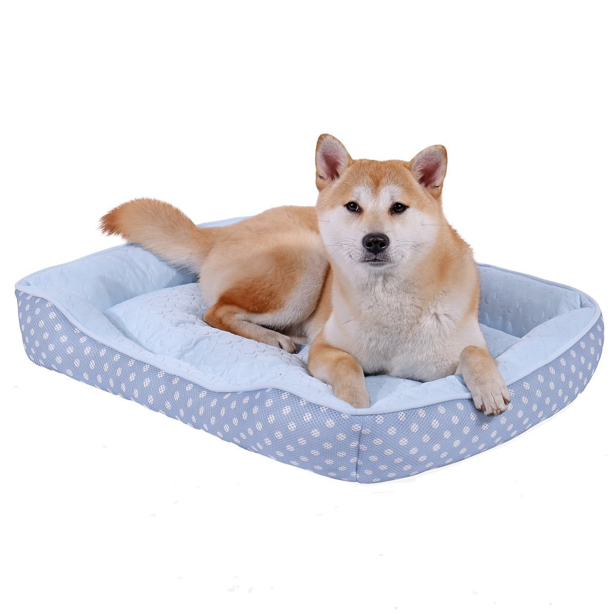 Ultra Soft Pet Sofa Beds for Small Medium Large Dogs and Cats 29.5 L x 23.2 W x 5.5 H Ohana Self Cooling Dog Bed Cuddler with Non-Slip and Waterproof Bottom Great for Summer Pink M