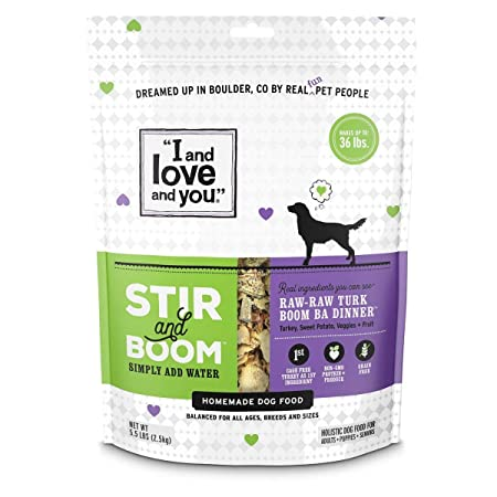 I and Love and you, in the Raw Homemade Dog Food, Raw Raw Turk Boom Ba Dinner, 5.5lbs. by I and Love and you: Amazon.es: Productos para mascotas