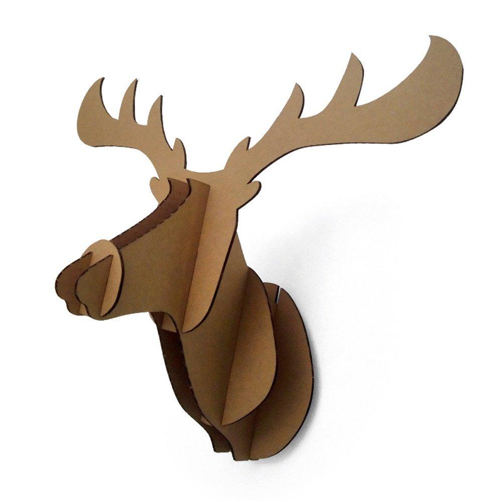 DIY Cartone Testa di Alce a schermo piatto testa di animale decorazione da parete Paper Maker ZS201301501