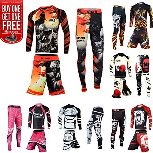 MMA Rash Guard Set (Warrior-3pcs-set, Small)