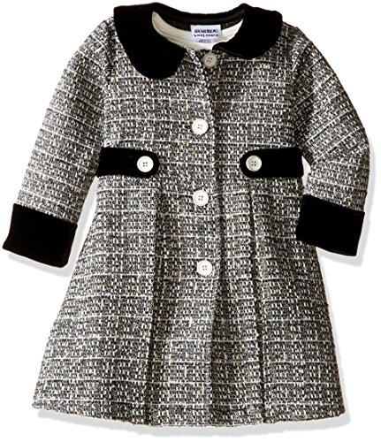 Blueberi Boulevard Little Girls' Boucle Coat/Dress Set, Black, 6X -