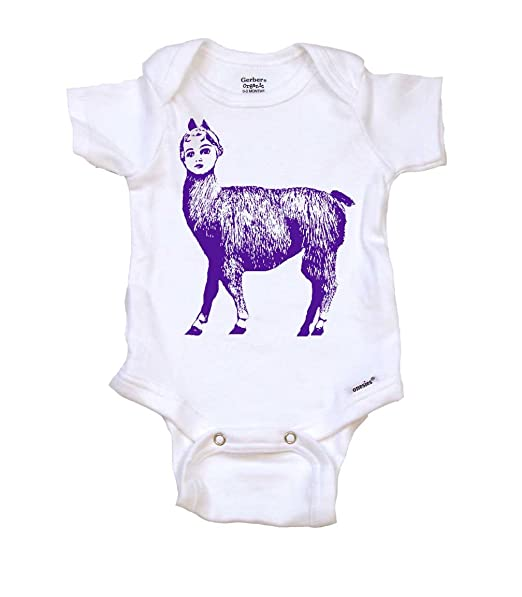 Amazon.com: Dolly llama Cool Graphic Cool pijama para bebé ...