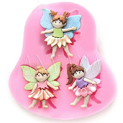 Anyana Angel Girl & Angel Boy Candy Silicone Mold for Sugarcraft, Cake Decoration, Cupcake