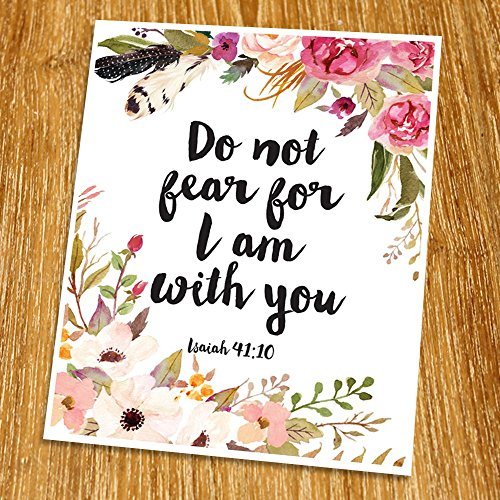 Isaiah 41:10 Do not fear Print (Unframed), Inspirational, Motivational Wall Art, Watercolor, Scripture Print, Bible Verse Print, Christian Wall Art, Nursery, 8x10'', TC-045 by The Printable by Mary Grace Design