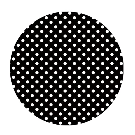 Goodbath Round Rugs Black White Round Dot Area Rug Non Slip Machine Washable Bedroom Living Room Study Kids Playing Floor Mat Carpet 3 Feet