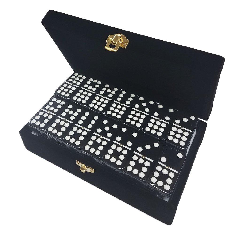 超激安 B072WK4G8DDouble 9ブラックDominoesジャンボTournamentサイズでエレガントなベルベットボックス B072WK4G8D, 家具通販のステップワン:d3876479 --- yelica.com