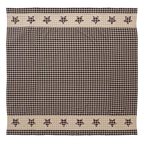 VHC Brands Bingham Star 5931 Shower Curtain