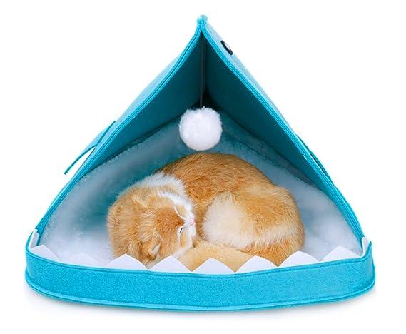 Xiaoyu Invierno cálido cómodo Plegable tiburón Mascota Perro (Cachorro) Gato Cueva Cama Cama, Azul: Amazon.es: Productos para mascotas