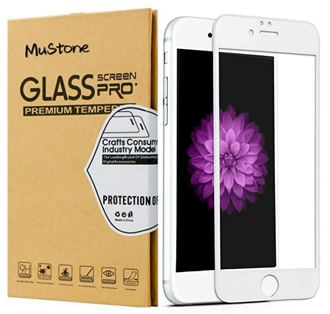 MuStone [2 Pack] Protectores de pantalla para iPhone 6 Plus 6s Plus, Protector de pantalla de cristal templado 3D Touch completo para iPhone 6 Plus 6s Plus Protectores de pantalla (5.5