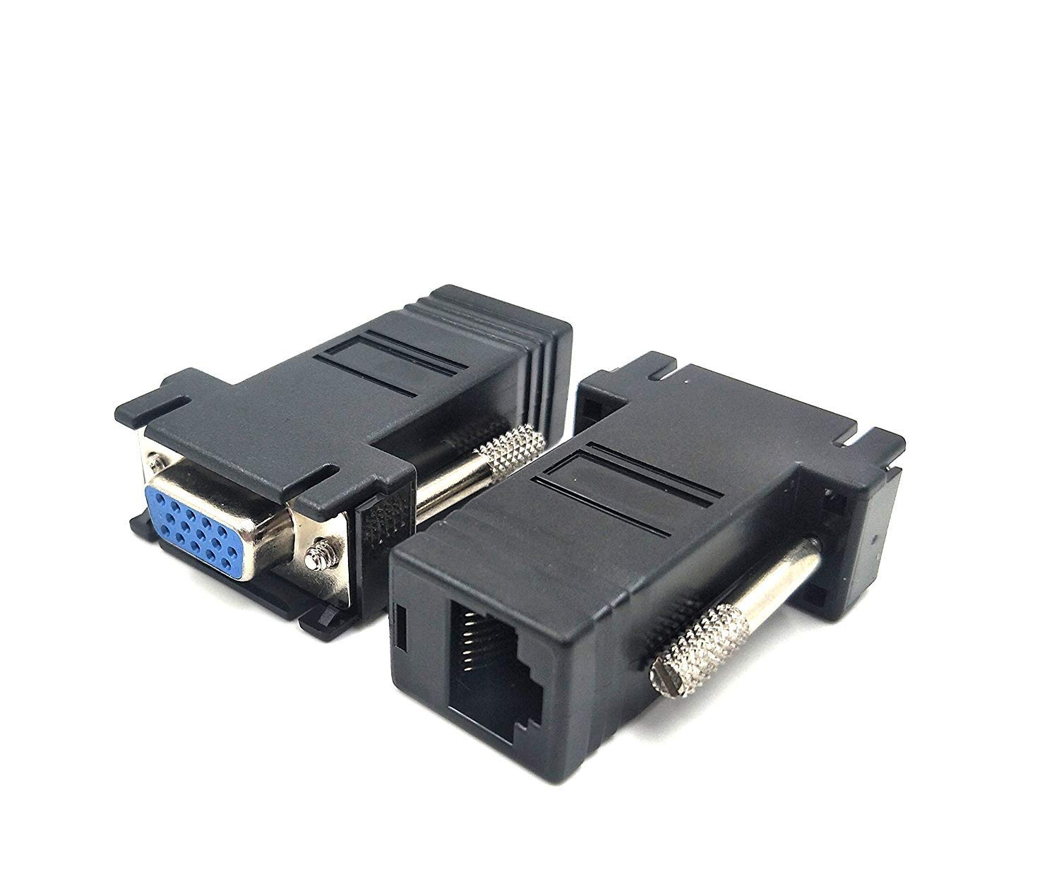 Ethernet VGA Male Female To RJ45 15 Pin Network Adapter Connector LAN Extender
