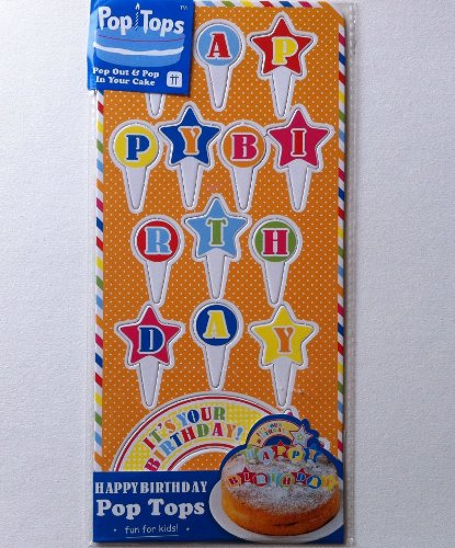 Strange Happy Birthday Pop Tops Cake Decorations Stars Pop Out Pop In Funny Birthday Cards Online Alyptdamsfinfo