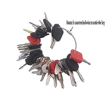 27 Keys Heavy Equipment Construction Ignition Key Set