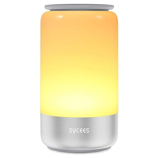 Amazon.com: SYCEES Lámpara de mesa, Multicolor RGB lámpara ...