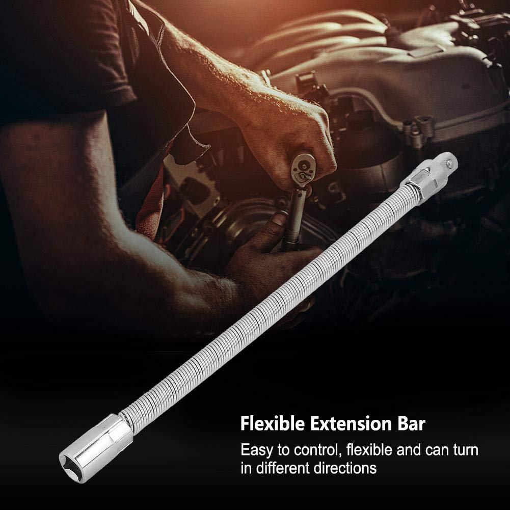 350mm 1//2Barra di prolunga flessibile CRV Functiona Supporto per asta portafile Collegamento chiave inglese