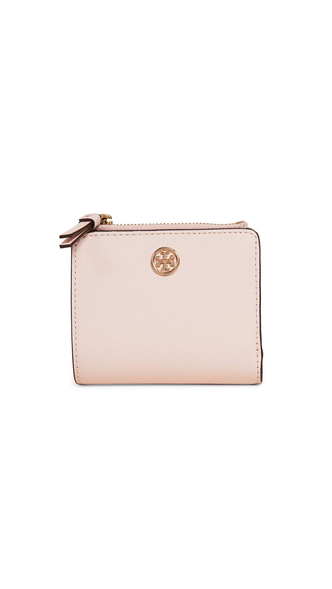 Tory Burch Women's Robinson Mini Wallet, Shell Pink, One Size