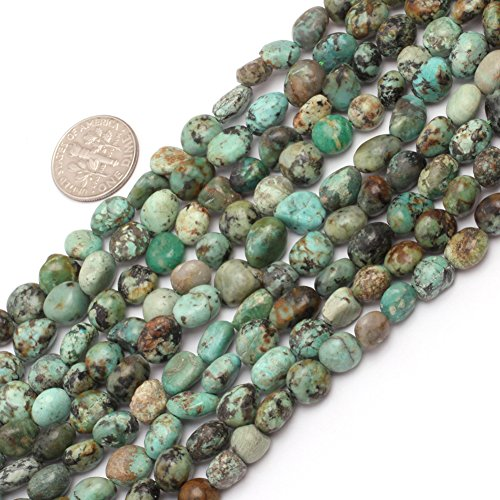 Africa Turquoise Beads for Jewelry Making Natural Gemstone Semi Precious 6x8mm Freeform Potato Shape 15