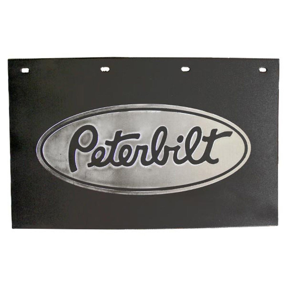 Semi Truck Mud Flaps >> Peterbilt Motors Trucks 24 X 15 Black Silver Poly Semi Truck Mud Flaps Pair