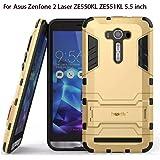 Heartly Graphic Designed Stand Back Case For Asus Zenfone 2 Laser Ze550Kl Ze551Kl ( 5.5 Inch ) - Mobile Gold