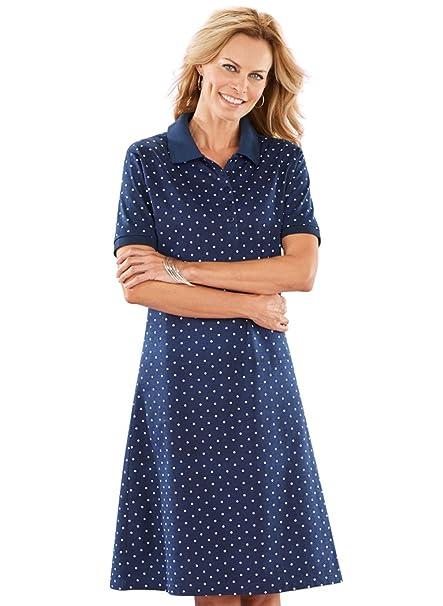 7baaef2e3 AmeriMark Knit Polo Dress at Amazon Women s Clothing store