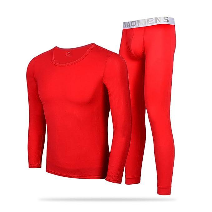 Hombre Conjunto de Ropa Interior Térmica - Manga Larga Camiseta Top + Térmica Pantalones Largos Invierno