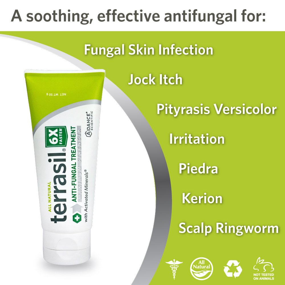 Terrasil Rapid-Clear Anti-Fungal Ointment MAX 25g Tube Plus 1 Medicated Cleansing Bar