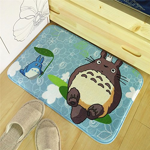 Sport do Japanese Anime My Neighbor Totoro Rectangle Kitchen/Living Room/Bedroom Decorative Area Rugs,Bedside Footmats,Doormats,1Pc,Green